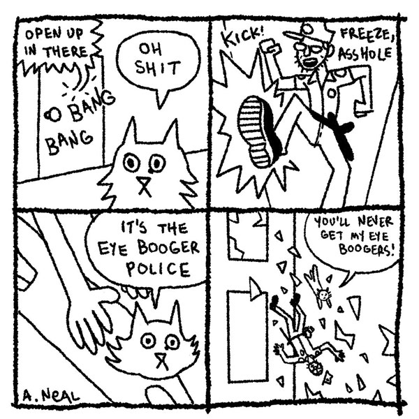 eye boogers cat comic